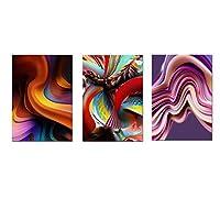 抽象キャンバス絵画カラフルな抽象パターン絵画ポスターとプリント壁アートCuadrosリビングルーム(フレーム付き)