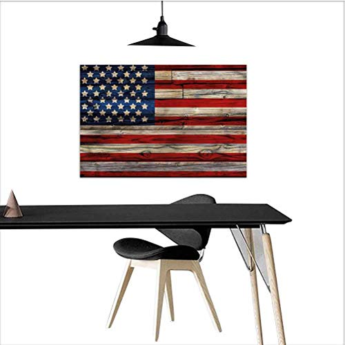 homecoco 4th of July Anime Posters Wood Planks Flag Wall Decor for Girls Bedroom W28 xL20 Inch