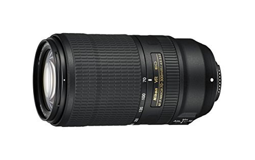 Nikon AF-P NIKKOR 70-300mm f/4.5-5.6E ED VR Fixed Zoom Digital Slr Camera Lens, Black