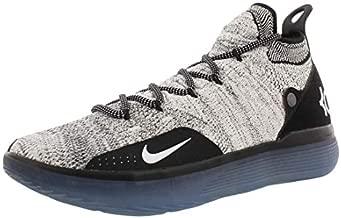 Nike Men's KD 11 Basketball Shoes, (Size 9, Black/White/Racer Blue/Bright Crimson)