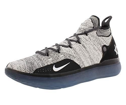 Nike Mens KD 11 Black/White/Racer Blue/Bright Crimson Knit Basketball Shoes 12 M US
