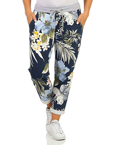 ZARMEXX Damen Sweatpants Baggy Boyfriend Sommerhose Sport All-Over...