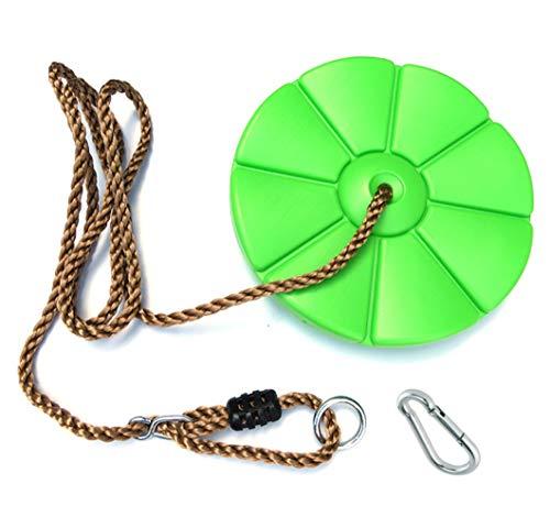 1 Stück h2i Kinder Teller Schaukel Disc Grün mit Karabiner zum Einhängen