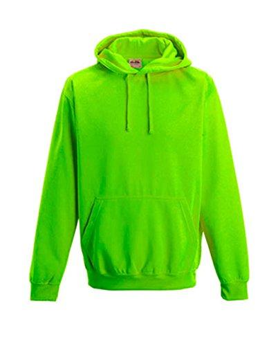 noTrash2003 Coole-Fun-T-Shirts - Sudadera con capucha, diseño fluorescente, verde eléctrico, M
