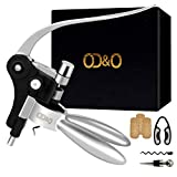 wine bottle opener set - corkscrew wine opener with foil cutter - extra