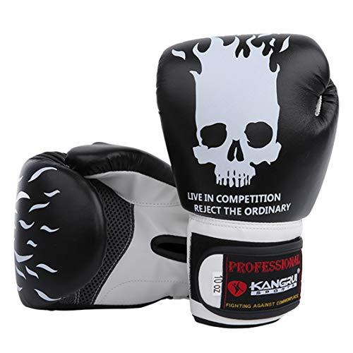 HiXB Boxhand Schuhe 8oz / 10oz für Muay Thai Training Trainieren,Black,8OZ