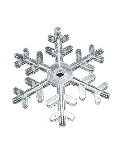 FOUWE luci Fiocco di Neve luci a LED Stringa Fiocco di Neve luci per Tende luci Natalizie Decorazione per Interni Lanterna Lanterna