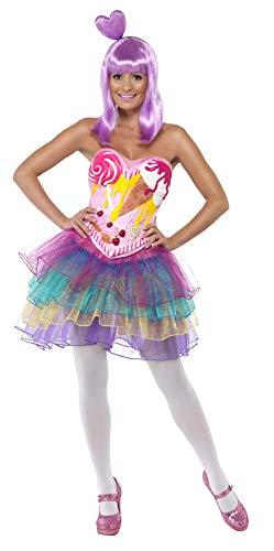 Smiffys Costume de Reine des bonbons, body en latex avec robe M