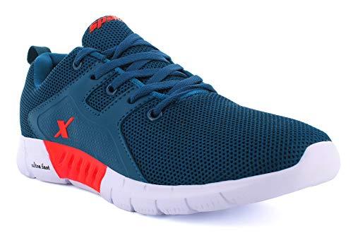 Sparx Men's SM-663 Turkey Blue Red Running Shoe-9 Kids UK (SX0663GTBRD0009)