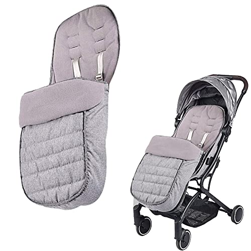 Xifamniy Universal Baby Thicken Stroller Footmuff Bunting Sleeping Bag to Protect Baby from Winter Cold Weather in Pushchair, Pram, Car Seats Grey