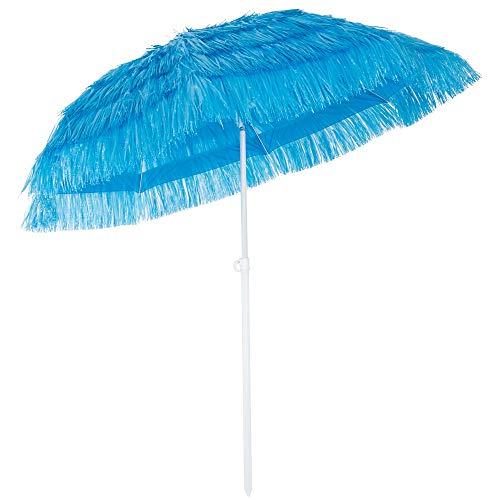 ombrellone da giardino 180 cm Kingsleeve Ombrellone da Spiaggia Hawaii Ø 160cm Altezza 180 cm inclinabile e Regolabile in Altezza