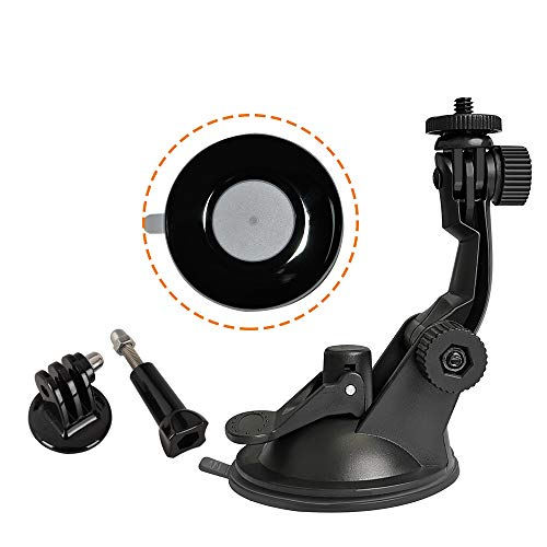 FOTOBETTER Updated Action Camera Suction Cup Car Windshield Windscreen Glass Suction Cup Mount Holder for GoPro Hero, Session, Fusion, DJI Osmo Action Cameras, video conference lighting