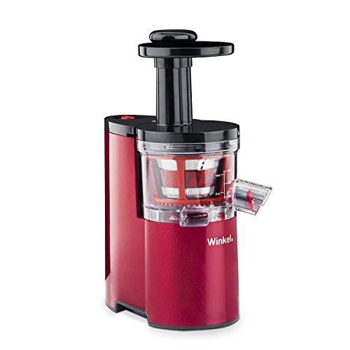 Winkel SX24 Slow Juicer, Entsafter, Saftpresse, Obst- und Gemüsepresse, 200 W, Rot