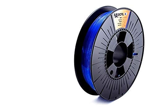 Basicfil PET 1.75mm, 500 gr filamento per stampante 3D, Blu trasparente