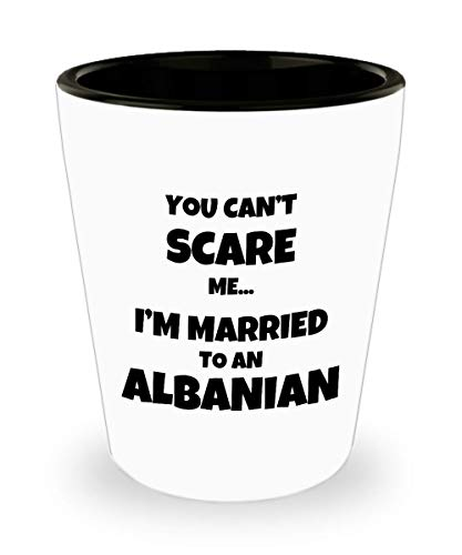 Albanian Shot Glass Husband Wife Married Couple Funny Gift Idea For Liquor Lover Alcohol 1.5oz Shotglass