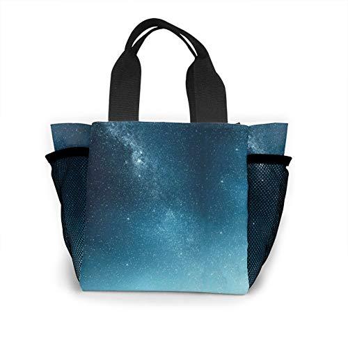 Galactic Starry Sky Handbag Women's Fashion Shopping Bag Reusable Carry Small Handbag