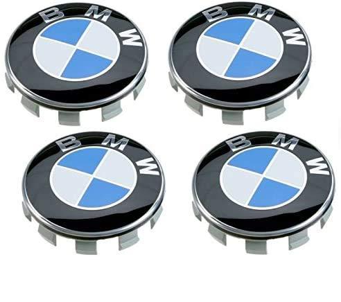 4Tapacubos compatibles con BMW, 55mm, Serie 1234567M Z X, llantas de aleación
