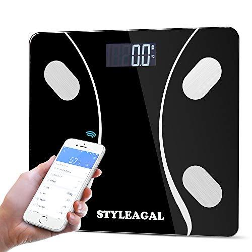 体重・体組成計 、STYLEAGAL 家庭用 体重計・体脂肪計・体組成計 体重/体脂肪率/体水分率/推定骨量/基礎代謝量/内臓脂肪レベル/BMIなど測定可能 自動ON機能 Bluetooth対応 iOS/Androidアプリで健康管理 赤ちゃんモート【12ヶ月保証】【日本語説明書】(ブラック) …