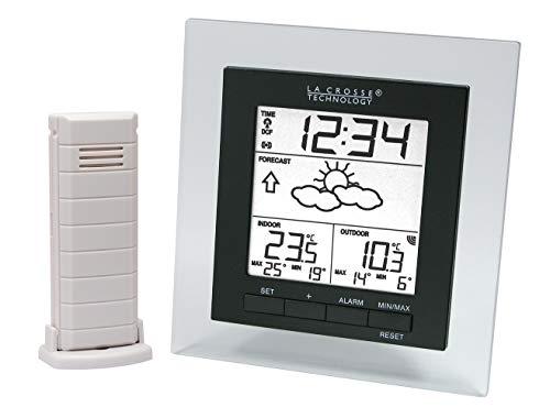 La Crosse Technology WS9137IT-DIS Ws9137 Wetterstation, komplett, kompakt, transparent, Schwarz, 12,4 x 13,04 x 2,5 cm