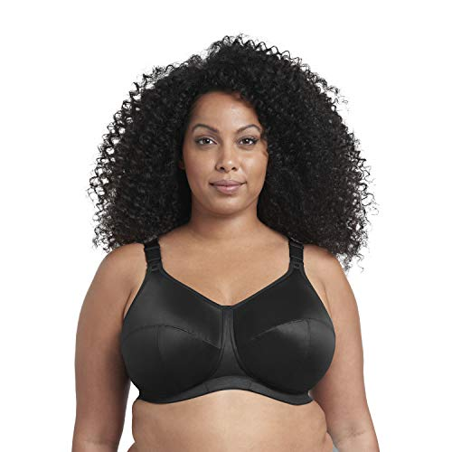 GODDESS Women's Plus Size Celeste Soft Cup Full Coverage Wireless Comfort Bra, Black, 48I