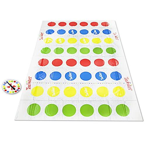 Twister Ultimate mit größerer Matte und mehr Farbfeldern, Spiel für Familien und Kinder ab 6 Jahren, kompatibel mit Alexa (eksklusiv nur bei Amazon)