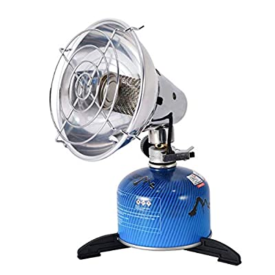 Ehinew Portable Gas Heater Heating Outdoor Camping Stove Fishing Hunting Propane Butane Tent Heater with Stand Camping Stove Cooker