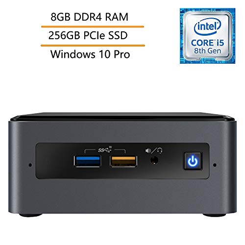 Intel NUC Mini PC Business Desktop Computer, Intel Quad-Core i5-8259U (Beats i7-7500U), 8GB DDR4 RAM, 256GB PCIe SSD, Windows 10 Pro, iPuzzle Mouse Pad