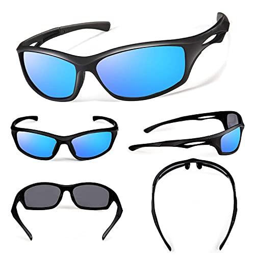Gafas de sol polarizadas para hombres y mujeres Cool Fishing Golf Gafas de sol/Gafas de sol deportivas al aire libre (B/Blue)