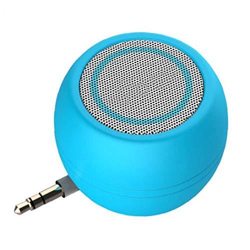 IUwnHceE Mini portátil de Altavoces Compacto de Cuatro Veces el Volumen Normal de Plug and Play Altavoz de 3.5mm para el teléfono móvil Multifuncional -Blue Accesorios electrónicos