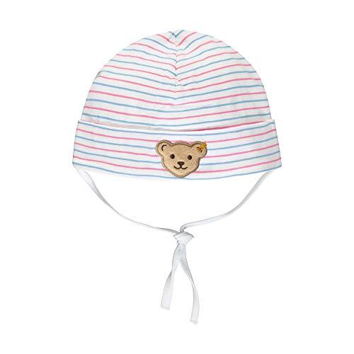 Steiff Baby-Mädchen Mütze, Weiß (Bright White 1000), 49 (Herstellergröße: 049)