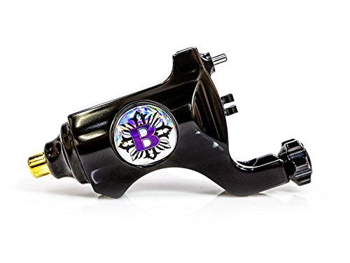 Bishop Authentic Rotary Tattoo Machine - RCA Cable (Polished Black)
