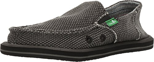 Amazon Essentials Kids' Slip-on Canvas Sneaker, Black, 1 Medium US Big Kid