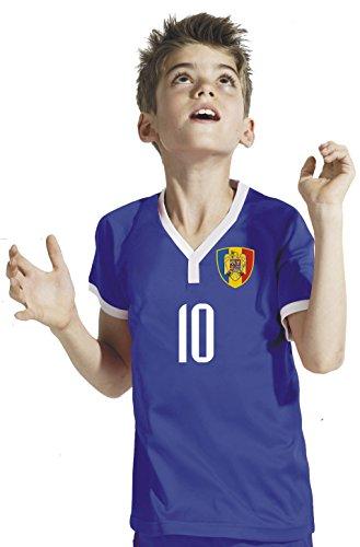 Aprom-Sports Rumänien Kinder Trikot - Hose Stutzen inkl. Druck Wunschname + Nr. GGG WM 2018 (140)