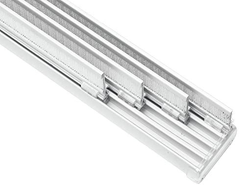 Gardinia Flächenvorhangschiene Komfort 4-läufig weiß L 225 cm