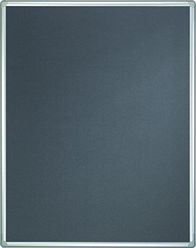 Franken PTD830312 Stellwand-Tafel Pro beidseitig Filz (90 x 120 cm ohne Säulen) grau
