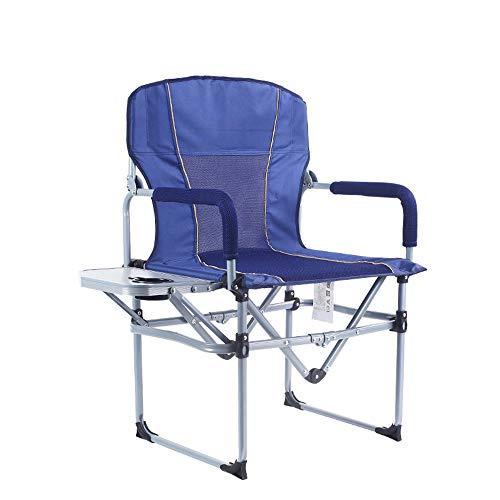Hochleistungs-Campingklappstuhl mit Beistelltisch und Griff, ergonomischem Design, Getränken und Snacks zur Hand, langlebig und leicht zu tragen - für Camping, Wandern, Reisen