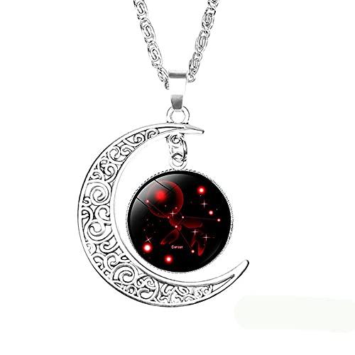 Chagoo Collar de 12 Constelaciones de Luna, Regalo para mamá, Mujeres, niñas (Cáncer (del 21 de Junio al 22 de Julio))