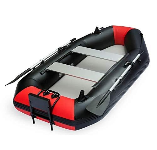 GUOE-YKGM Kayak Faltkajak - Aufblasbares 2-Personen-Kajakset Mit Schlauchboot, Zwei Aluminiumrudern Und Elektromotor - Angler Und Freizeit-Angelkajak