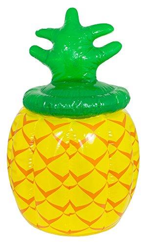 Das Kostümland Ananas Getränkekühler - Aufblasbar - Witziger Flaschenkühler für Garten Hawaii Südsee Party