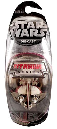 Star Wars Titanium Series Die Cast Metal Swampspeeder with Rotating Turrets by Hasbro (English Manual)