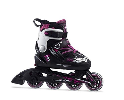 FILA Mädchen X-One Girl Inline Skate, schwarz/Magenta, 32-35