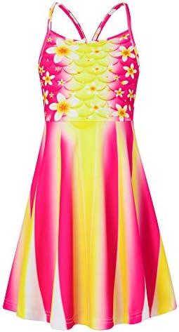 Loveternal Little Girl Hawaiian Dresses Size 8 9 Tropical Floral Dress Summer Beach Pulmeria product image