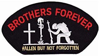 PatchStop - The World's Largest Patch Store Brothers Forever Hat Patch, Fallen Soldier Patches, Black & Red, Small