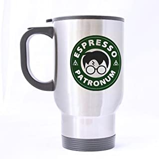 Great Gift Espresso patronum Mugs - 14 Oz 100% Stainless Steel Material Travel Mugs