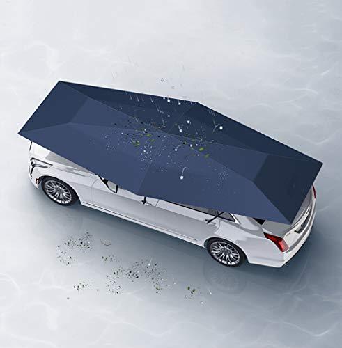 Parasoles Plegables Grandes Para Subaru Outback Forester XV, Instaladas En El Techo Solar Del Coche, Bloques Protectores De Visera Con Bloqueador Solar, Azul Marino/Plateado, 4,6x2,3 M 5 Kg