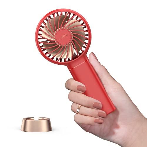 Mini Handventilator,Funme 2021 Neu Mini Tragbarer Ventilator Lüfter Exquisit mit 3350mAh 17 Stunde Aufladbarem Batterie für Mädchen Reisen und Zuhause Chili Rot