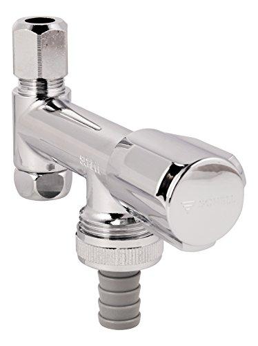Schell Geräte-Ventil Eckfix, 033740699, mit lange Ausführung, Rückflussverhinderer, 3/8 Zoll, Messing, Chrom, 17533 3