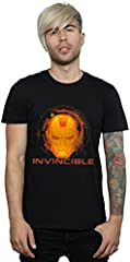 Marvel Hombre Iron Man Invincible Camiseta