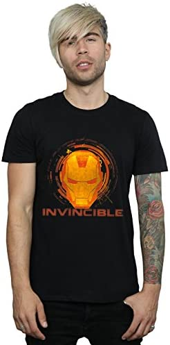 Marvel Hombre Iron Man Invincible Camiseta