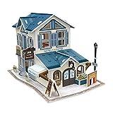 F Fityle Juego de Rompecabezas 3D, Juego de Ensamblaje de Casa de Muñecas en Miniatura de...